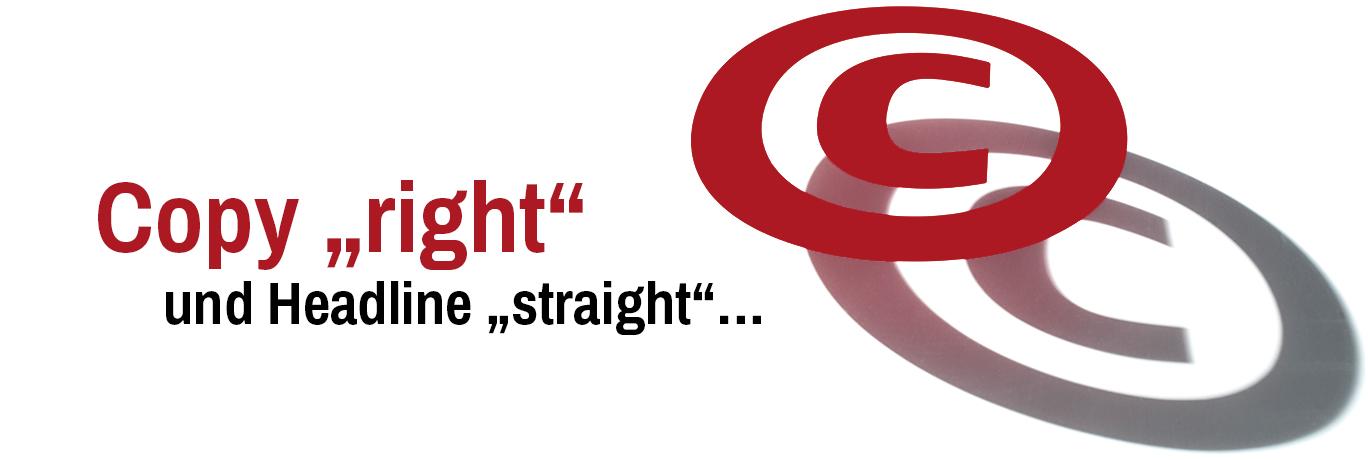 "ZEITWORT - Referenzen - Copy ""right"" & Headline ""straight"""